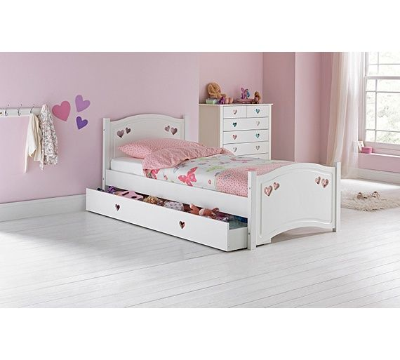 buy mia single bed frame with drawer white at argoscouk - White Bed Frame With Drawers