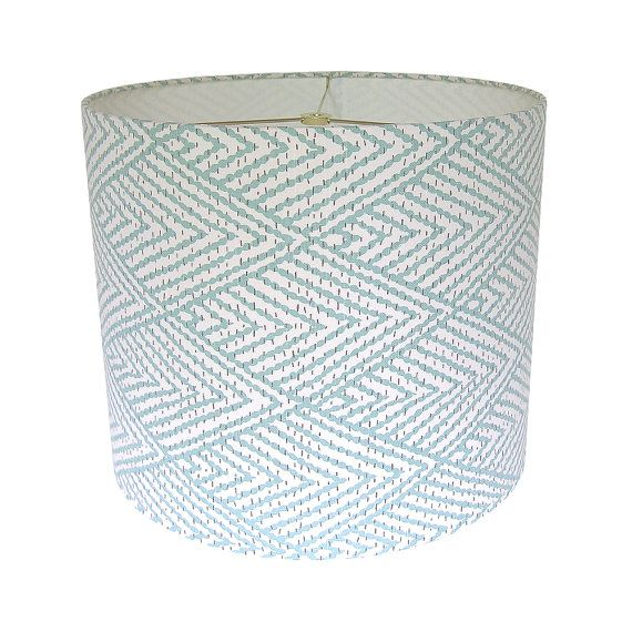 shade lampshade drum lamp shades ship drum horizon turquoise geometric. Black Bedroom Furniture Sets. Home Design Ideas