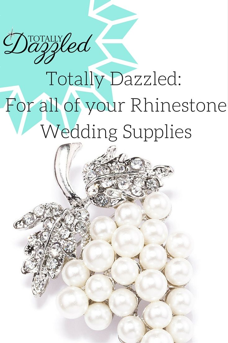 Vineyard wedding? Find these elegant pearl and rhinestone brooches at totallydazzled.com for only $1.85! Come and see what else we have to offer to dazzle your guests! #wedding #bling #pearls