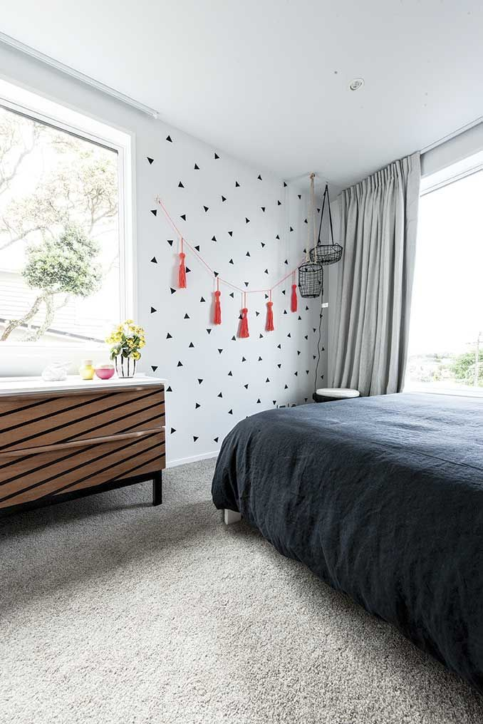 Feltex carpets | The Block NZ | Alex and Corban | Teen Bedroom | Get the look with Maryland Polyester carpet in Pearl #feltex #feltexcarpets #theblock #theblocknz #tv3 #bedroom #girlsbedroom #greycarpet #polyester #carpet #teen #bedroom