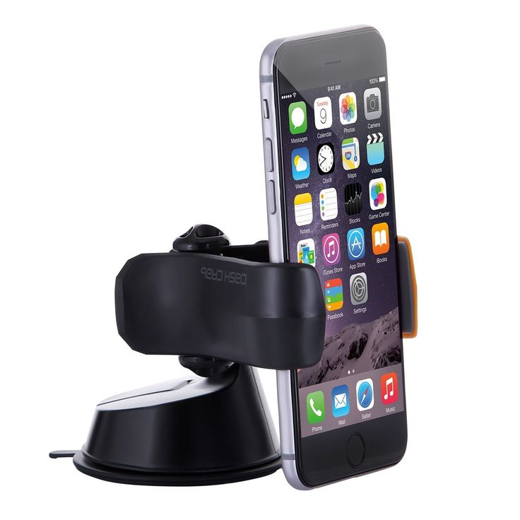 Dash Grab Universal Phone Mount Holder for iPhone 6/5s/5c/4s, Samsung S5/S4/S3, HTC One, Nexus 5, Sony Xperia, Moto X, Nokia Lumia