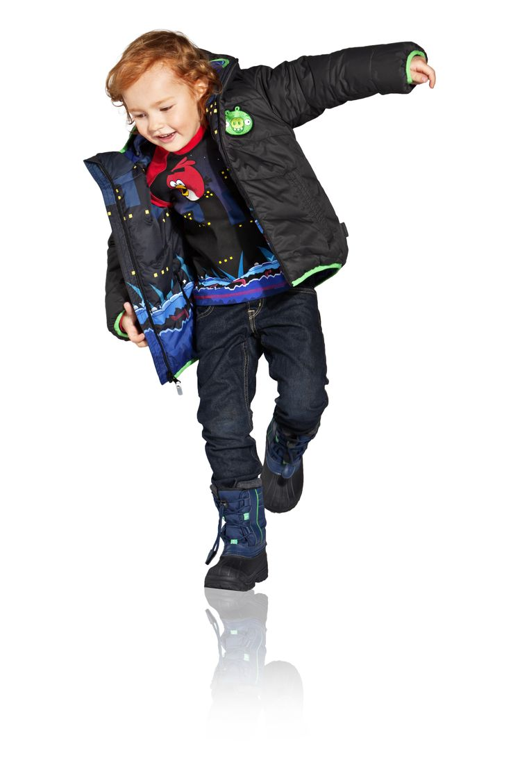 Kids' shirt is technical Play Jersey material: Quick-dry with comfortable handfeel!  [Angry Birds™ Reima® winter collection 2013] Reima Finland