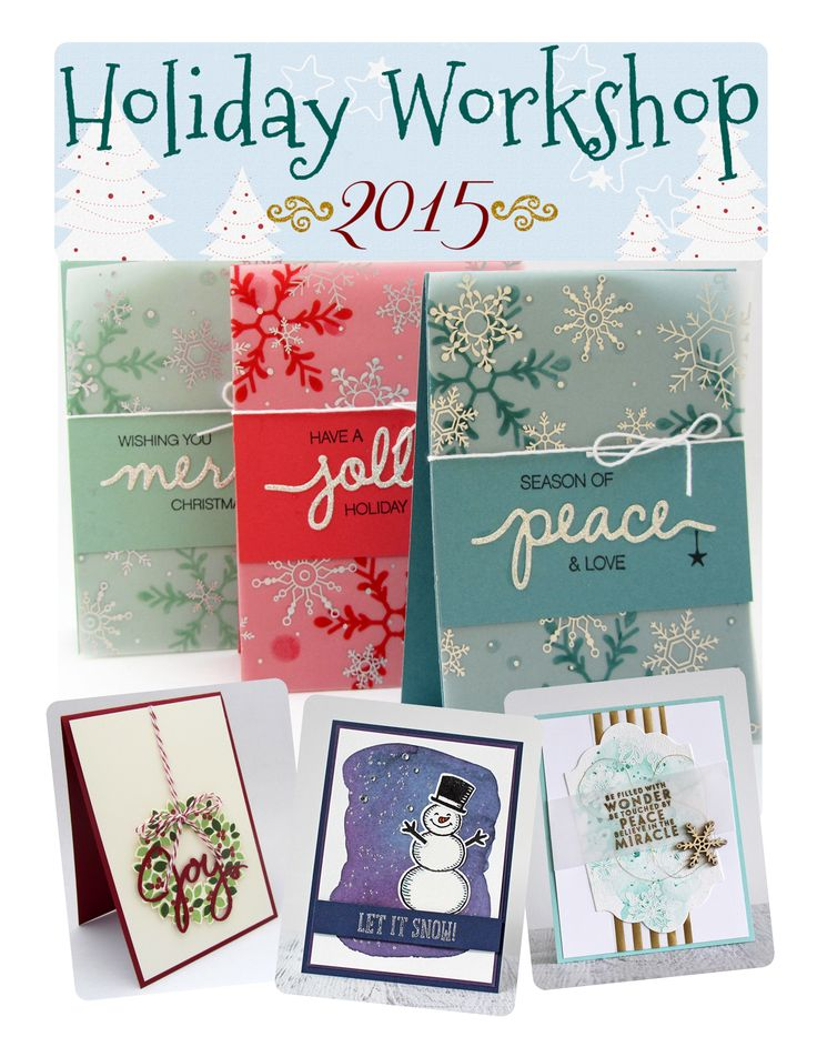 Join us for a card making, gift giving class focused on every aspect of your holiday projects.