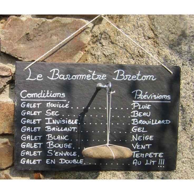 Le Baromètre Breton - Déco / Cadeau original et marrant ! : Décorations murales par le-placard-a-galets