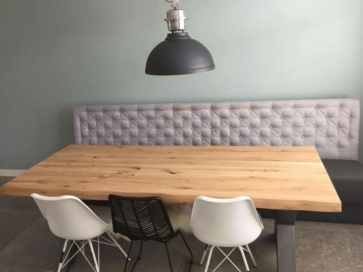 17 beste idee n over houten eettafels op pinterest eettafels en eiken tafel - Eettafel en houten eetkamer ...