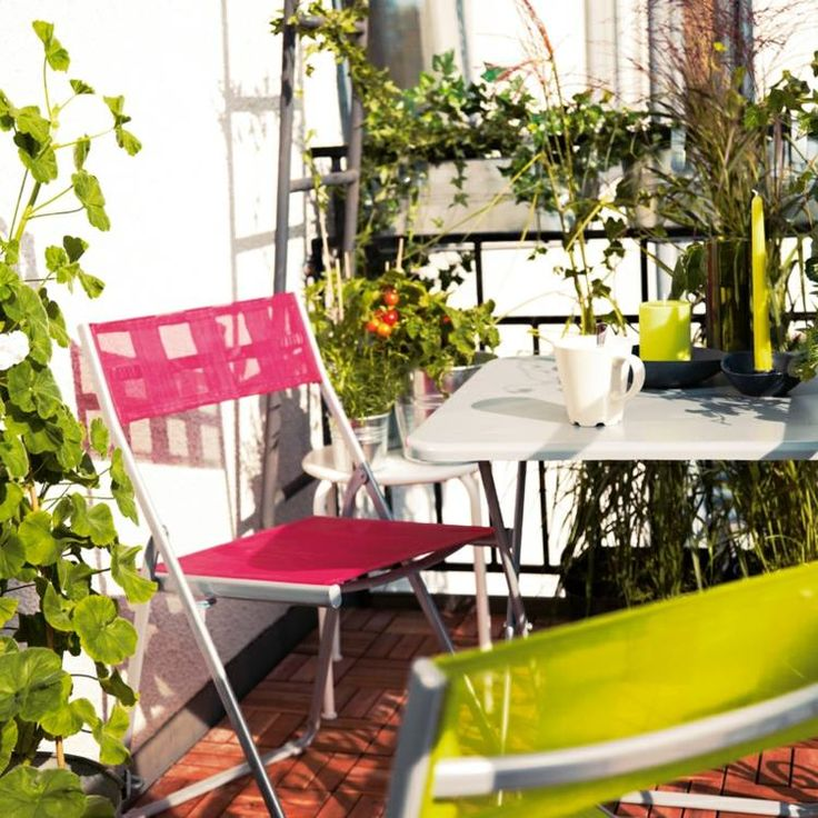 92 best balcons terrasses images on pinterest small balconies balcony id - Chaise pliantes ikea ...