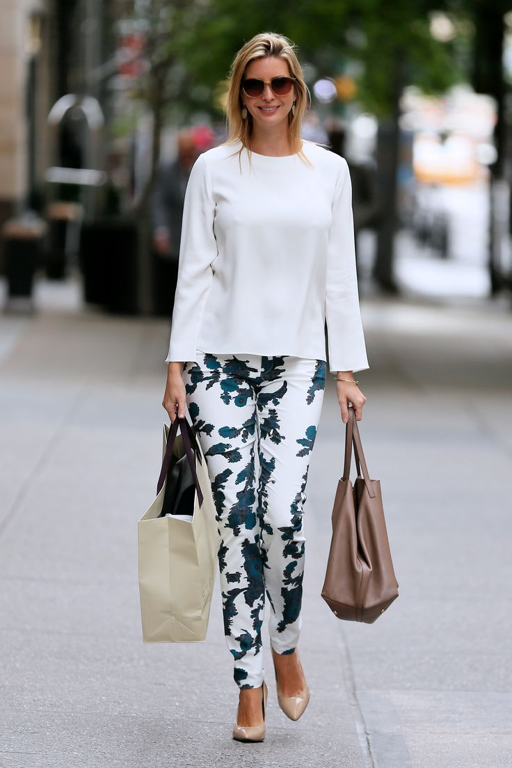 Ivanka's tropical print pants