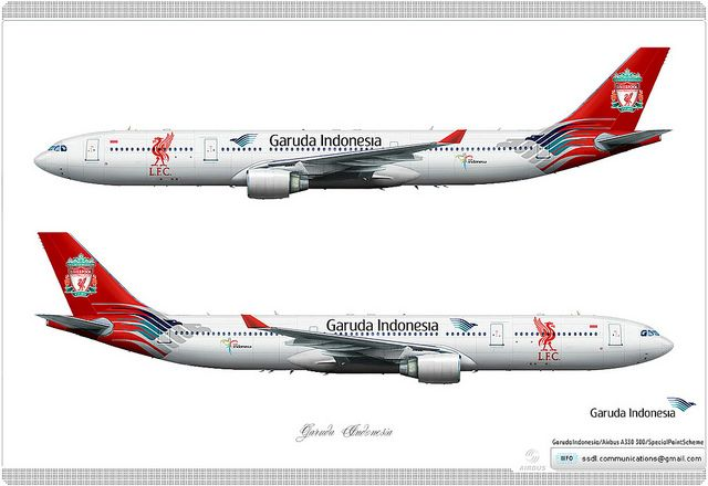 Garuda Indonesia / Airbus A330 300 / Special Paint Scheme / Livery concept