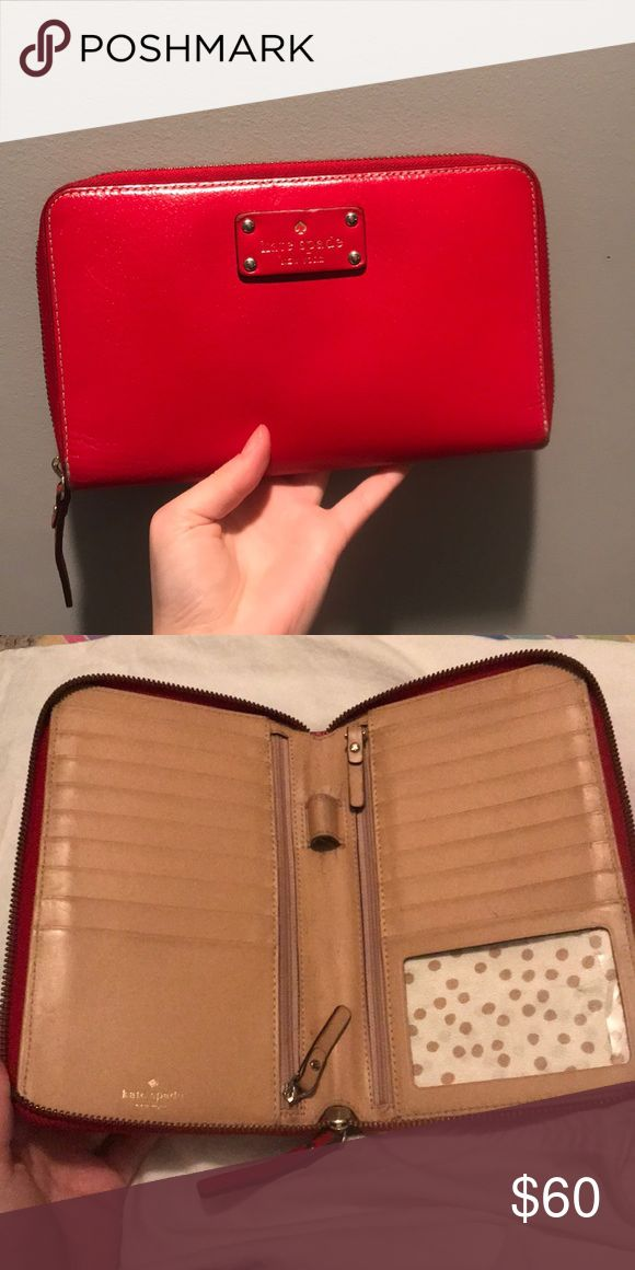 Wallet Slightly used cherry red kate spade wallet clutch! kate spade Bags Clutches & Wristlets