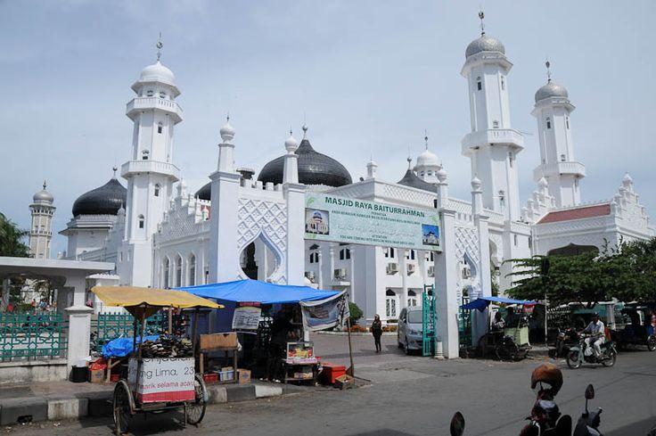 Raya Baiturrahman Mosque, Masjid, Banda Aceh, Sumatra, Indonesia, Raya-Baiturrahman-Moschee, Indonesien