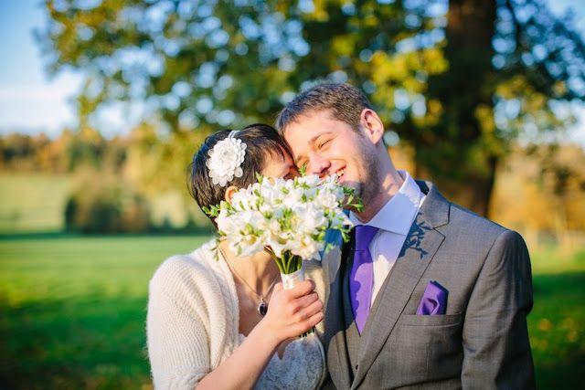 Elisa and Chris look so cute! Elisa is wearing Bonnie Bolero by Purl Alpaca Designs