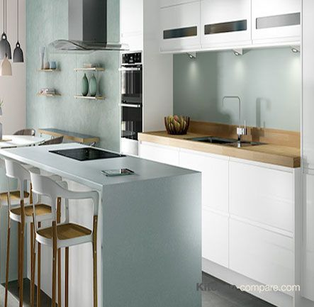 Wickes - Sofia White. Sofia White will keep your kitchen looking clean and fresh with its modern linear styling and minimalist integrated handles. For more info visit - http://bit.ly/1Q55O1C