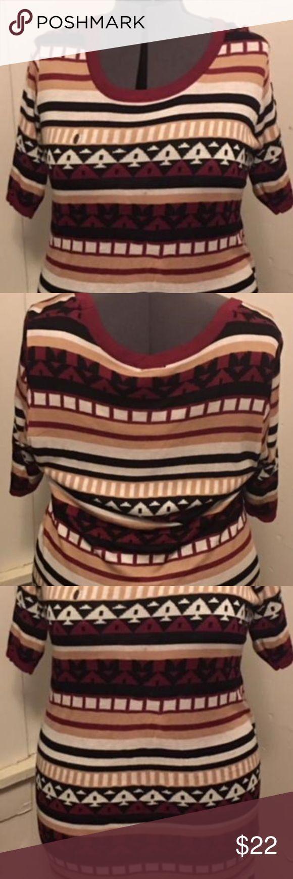 Tribal Print Sweater Dress Rue Plus Size Tribal Print Sweater Dress. NWT Rue 21 Plus Size Dresses Midi