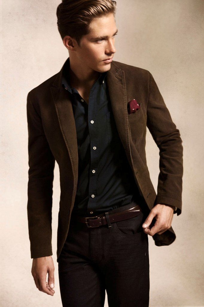 black button white buttons and a brown olive jacket