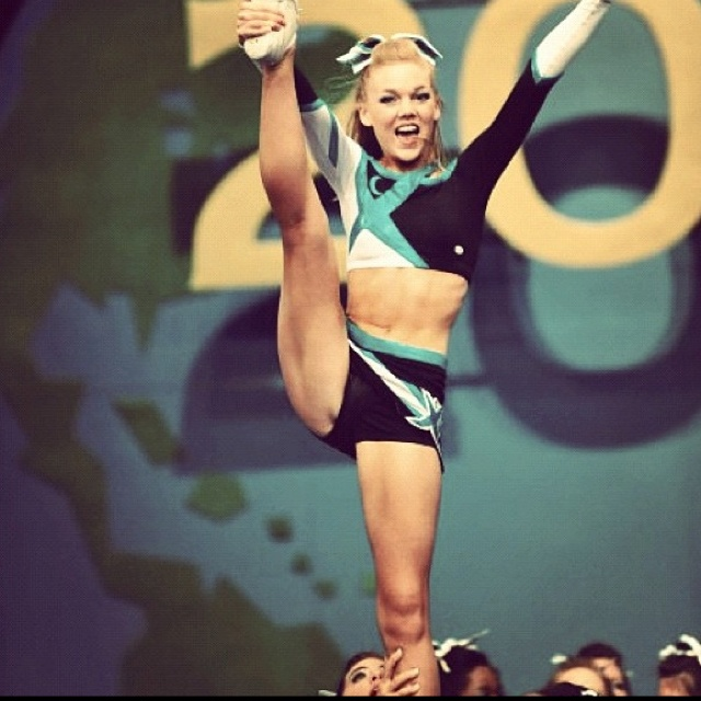 Cheer extreme senior level five all girl. We used part of their stunt sequence in our routine for state in 2012