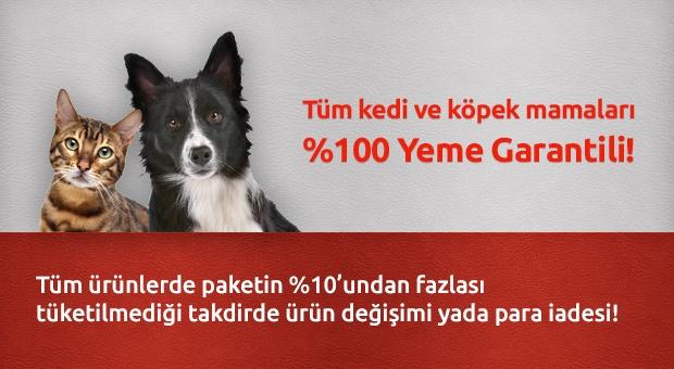 % 100 Yeme Garantili Kedi ve Köpek Mamaları Evcilbesinleri.com'da