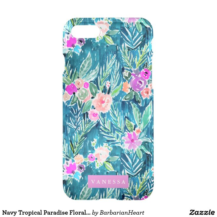 Navy Tropical Paradise Floral CUSTOMIZABLE