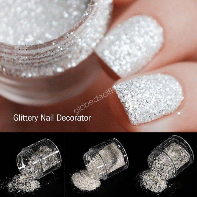 130 Relaxing Glitter Nail Art Designs Ideas 12 Telorecipe212 Com Glittery Nails White Glitter Nails Glitter Nail Art