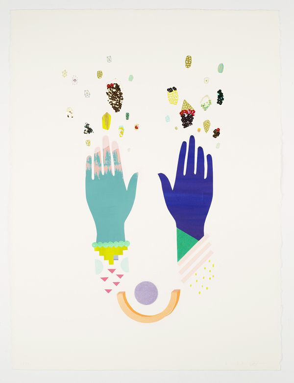 'Hands / Gems & Rocks' by Beci Orpin and Kat Macleod for their joint show opening in Melbourne tonight.