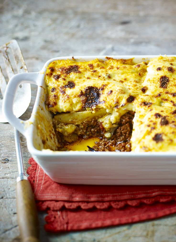 A good moussaka is a joy to behold with cinnamon spiced lamb mingling with aubergines and a delicious creamy sauce