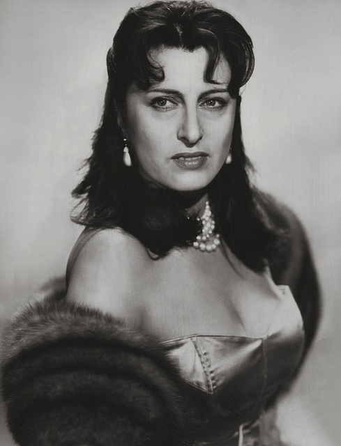 "Anna Magnani, 1955.....She ate and drank very little and could subsist for long periods on nothing more than black coffee and cigarettes. However, these habits often affected her sleep: ""My nights are appalling,"" she said. ""I wake up in a state of nerves and it takes me hours to get back in touch with reality"