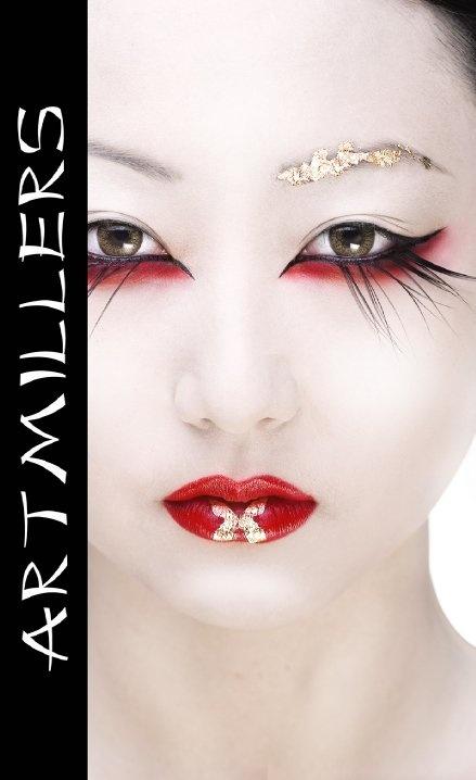 Beautiful Geisha-inspired Make-Up