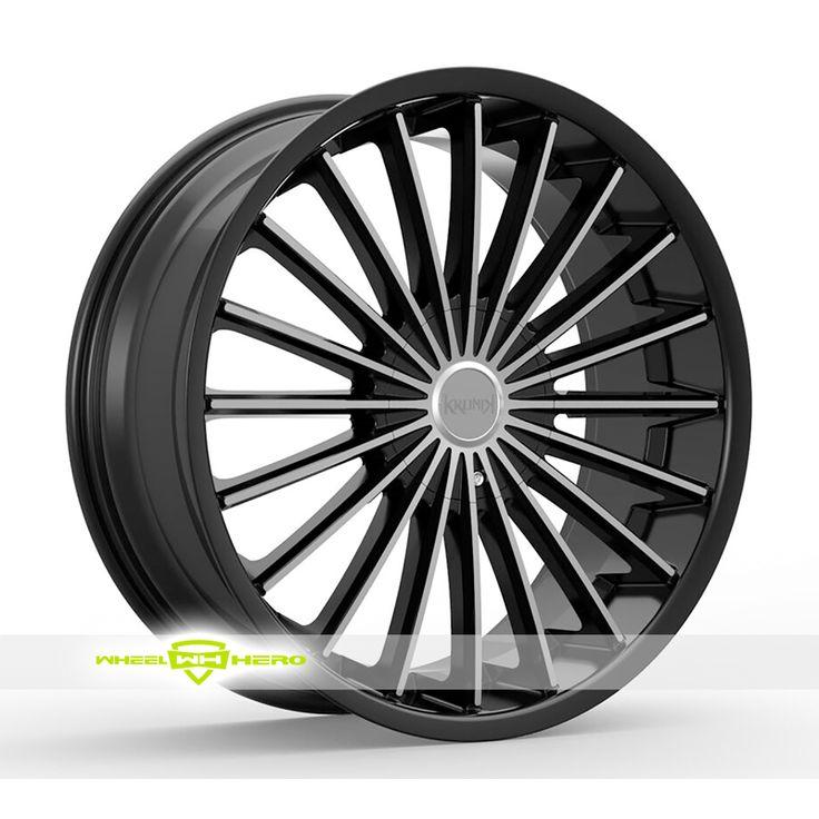 Kronik Kush Machined Black Wheels For Sale & Kronik Kush Rims And Tires