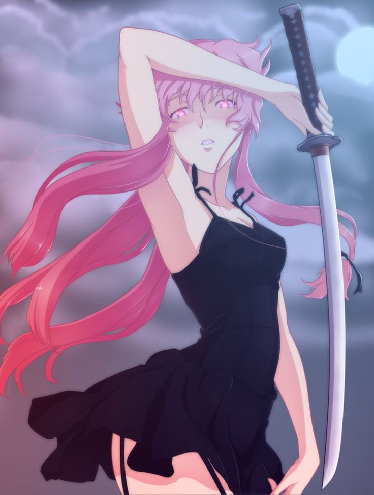 Yuno Gasai - Mirai Nikki the crazy u feel worse and worse for as the series progresses... how did she do that?
