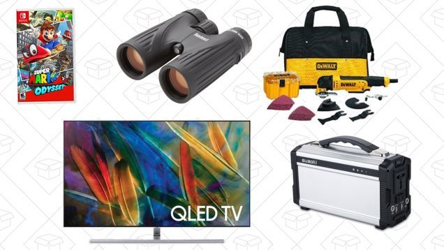 Tuesdays Top Deals: Oscillating Tool Kit Portable Battery Pack Samsung 65 TV and More