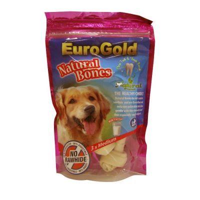 Eurogold Natural Bones Peynir ve süt aromalı doğal kemiklerdir.Tamamen sindirilebilir olan bu kemikler köpeğinizin sindirimine yardımcı olurken, diş taşı ve ağız kokusunu da engeller.