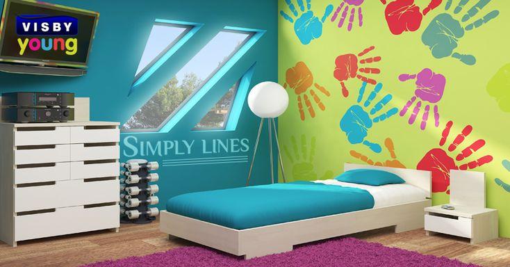 Kolekcja Simple Lines #meble #mebledrewniane #drewniane #drewno #wood #łóżko #bed #sypialnia #bedroom #night #dreams #dream #poduszka #pillow #kołdra #materac #sweetdreams #sosna #pine #pościel #dom #home #mieszkanie #modern #visby #onemarket