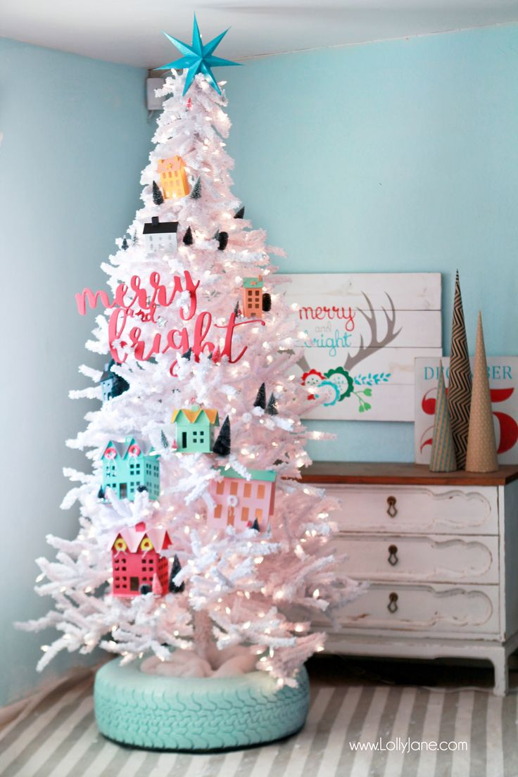 Nice DIY Recycled Tire Christmas Tree Base