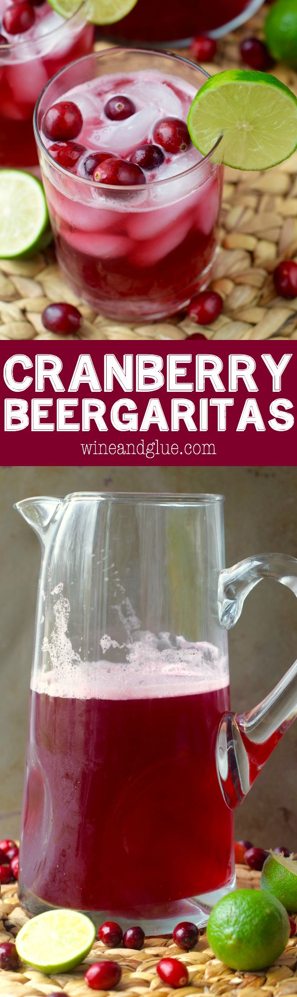 These Cranberry Beergaritas are just five simple ingredients but are the perfect addition to a party!: