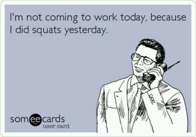 So Friday should be leg day? Haha