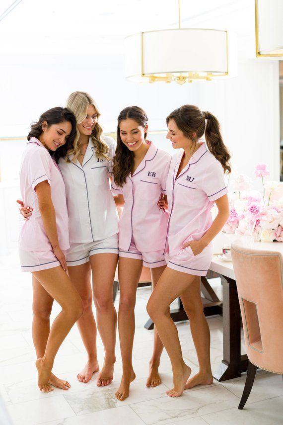 d2176c75b9bf Pajama Set    Pyjama Set    Bridesmaid Pajama    Bridesmaid. Cute Bridesmaids  Pajamas!