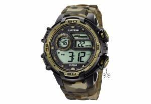 Montre Homme Calypso K5723/6 Chrono Multifonction Couleur Camouflage Militaire Etanche à 100 Mètres