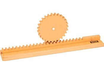This wooden gear model has a sturdy construction, ideal ...