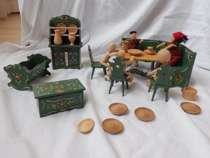 Luxury Puppenm bel Puppenstube M bel Puppe Holz Bauernm bel Handbemalt eBay