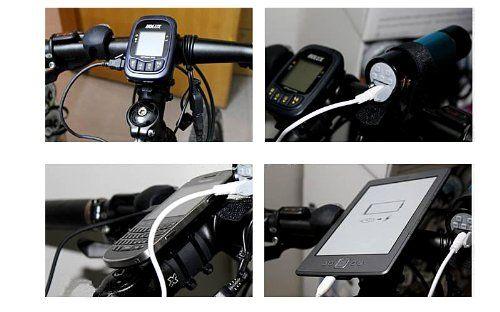 Cargador bateria USB para cadena de bicicleta dinamo 1000mA: Amazon.es: Deportes y aire libre