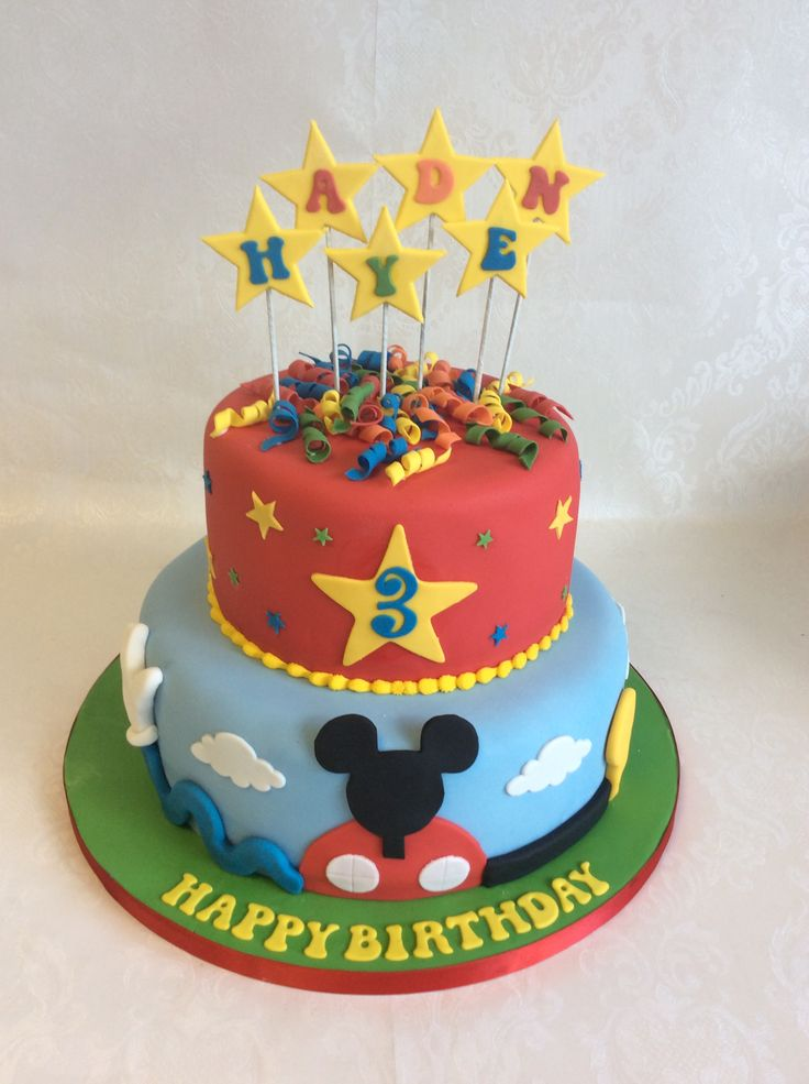 2 Tier Mickey Mouse Clubhouse Cake No Character Figures