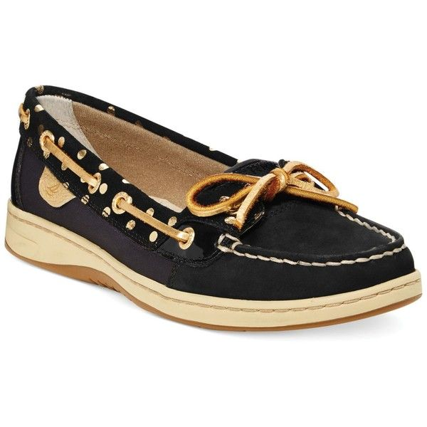 Sperry Women's Angelfish Boat Shoes ($67) ❤ liked on Polyvore featuring shoes, loafers, sperry shoes, leather boat shoes, sperry top-sider shoes, grip shoes and boat shoes