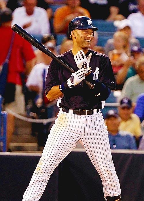 Now batting...for the Yankees...the Shortstop #2 Derek Jeter... #2