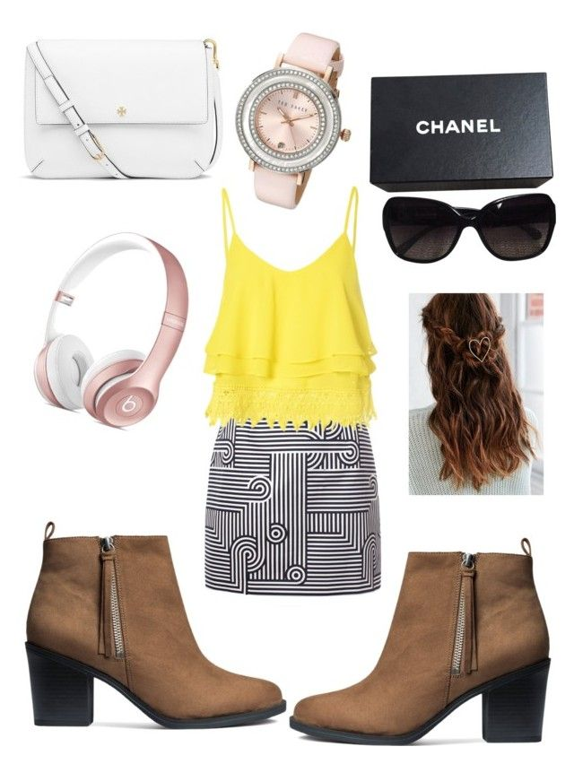 """""""Casual"""" by fashion-girl-katrina on Polyvore featuring Victoria, Victoria Beckham, Glamorous, H&M, Tory Burch, Chanel, Ted Baker, women's clothing, women, female and woman"""