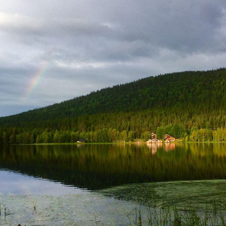 Immelkartano ja lauttasauna. Oikea kesäelämys Immeljärvellä.  Levi, Finland