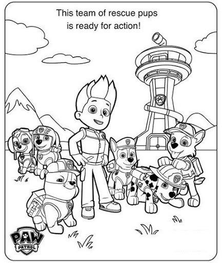 paw patrol birthday coloring pages - photo#18