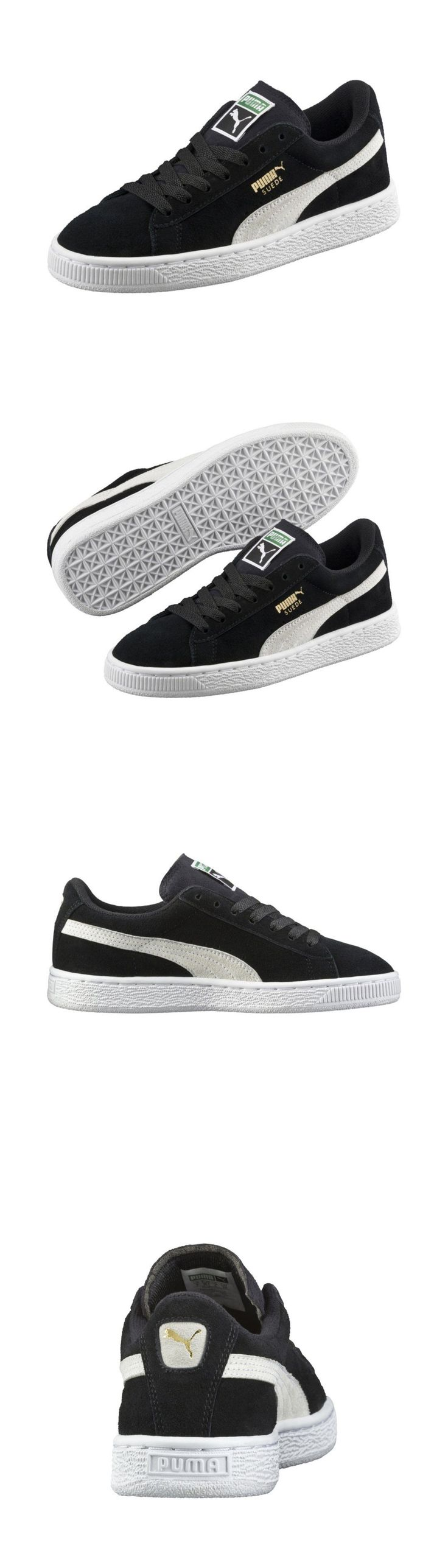 Youth 158954: Kids Puma Suede Jr Black And White 355110-01 Gs Grade School Junior Classic -> BUY IT NOW ONLY: $45 on eBay!