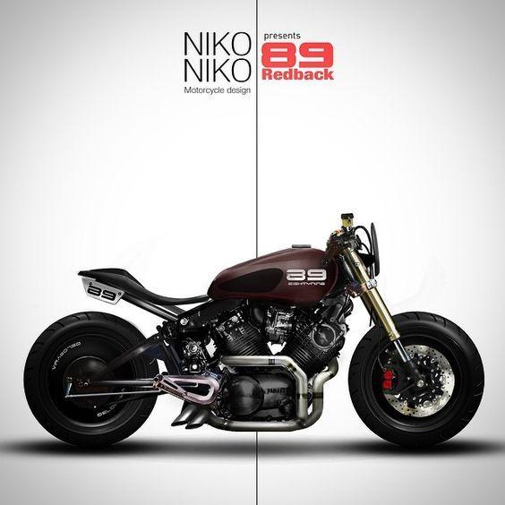 Cafe Racer design by Niko Studio #motorcycles #caferacer #motos  