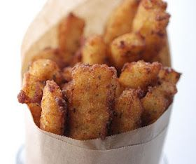 Panelle (Chickpea Fries) - gluten-free, grain-free, high protein, healthy alternative.  Plus other great garbanzo bean recipes.