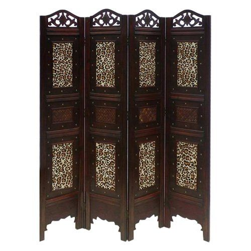 Phat Tommy 4-Panel Leopard Animal Print Room Divider Screen $249.99......Yeah Right I Will Make Something Similar For Less Than Half The Price
