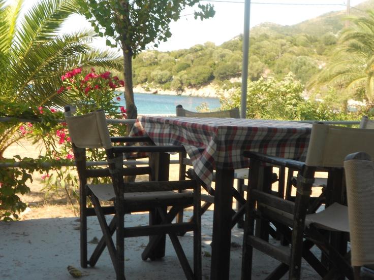 Beach tavern, Port Atheras, Cephalonia